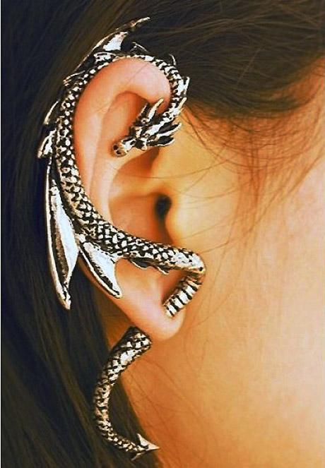 Languetif Joaillier [ Blog ] - Boucle Oreille Dragon